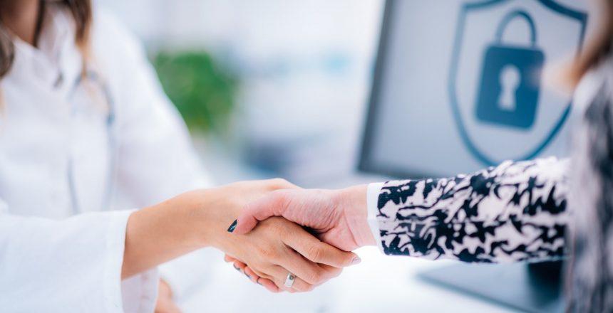 Handshake After Signing Medical Data Form